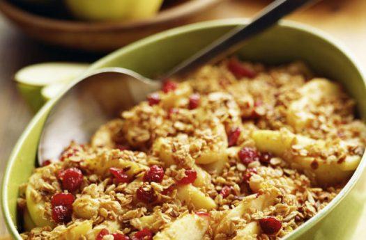 cleveland apple cranberry crisp